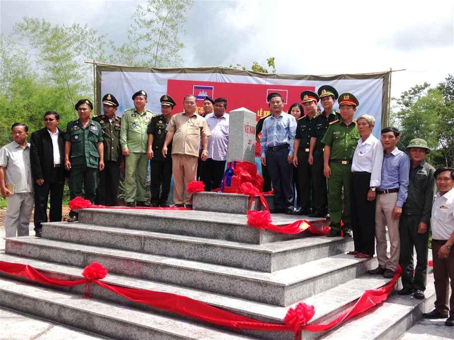 Khánh thành cột mốc biên giới số 41 và 43 tiếp giáp với Campuchia
